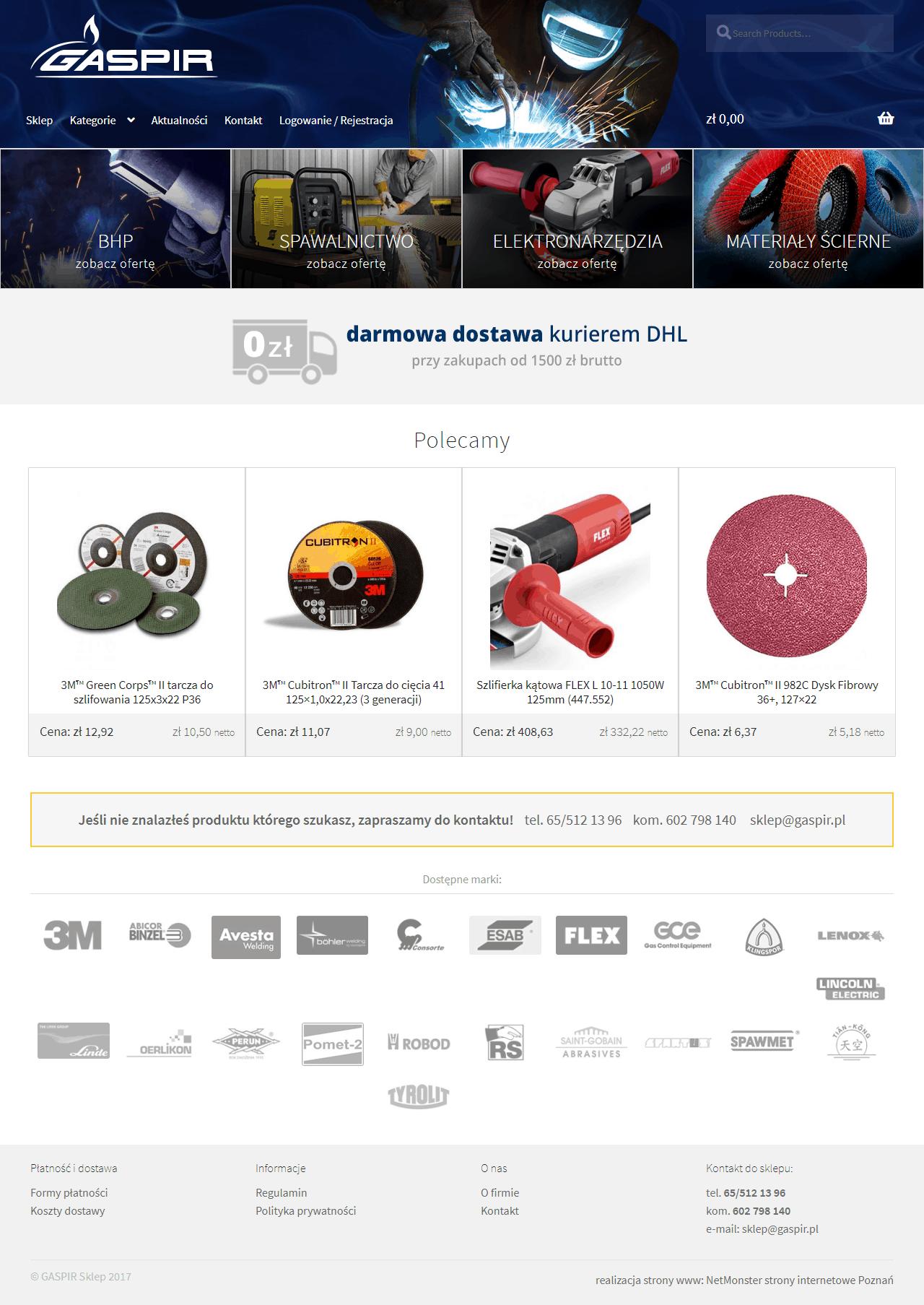 sklep internetowy-gaspir-koscian-srem-poznan