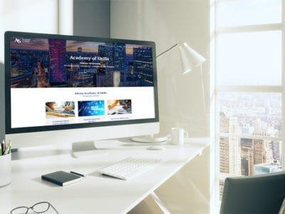 Strona internetowa dla firmy szkoleniowej z Warszawy Academy of Skills Tomasz Wójtowicz