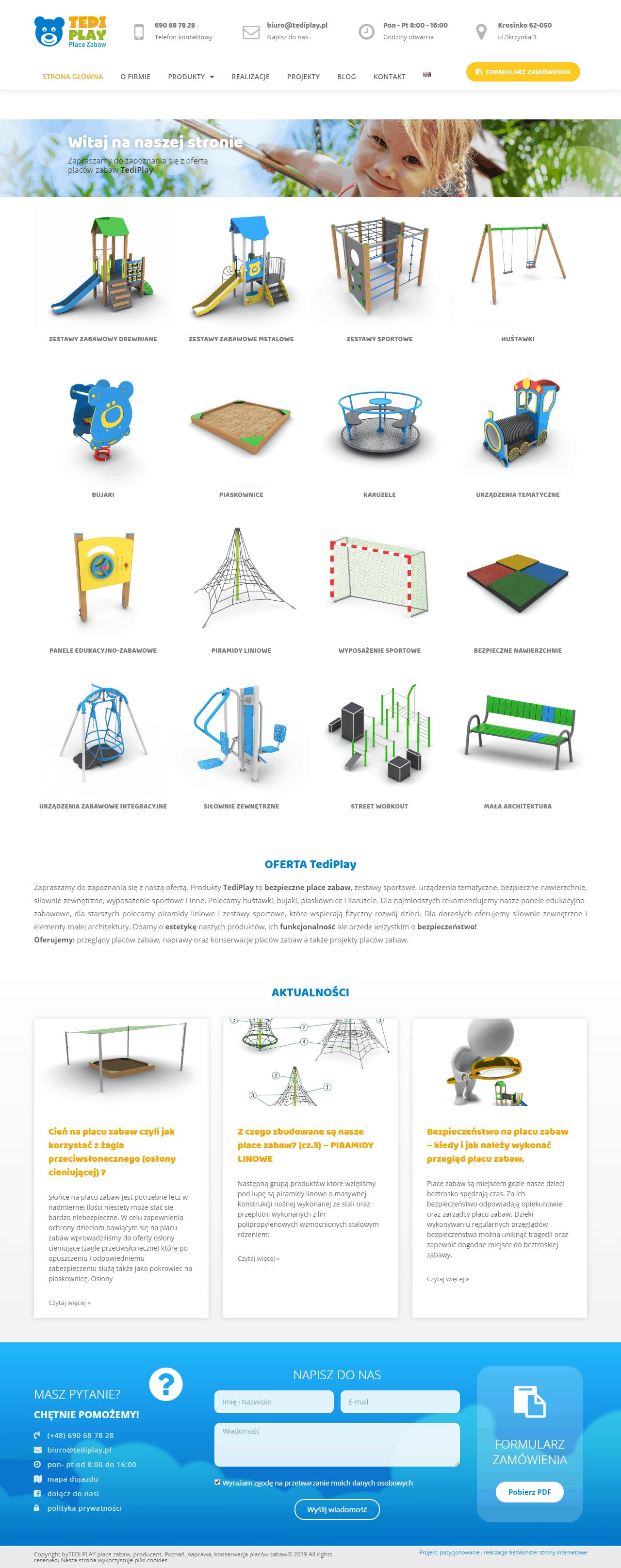 strona internetowa dla firmy z Lubonia k. Poznania. E- katalog produktów, strony www Poznań, Luboń, Mosina